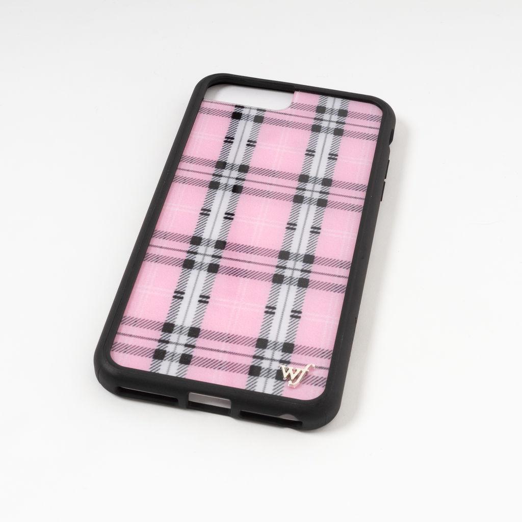 Wildflower Pink Plaid Phone Case