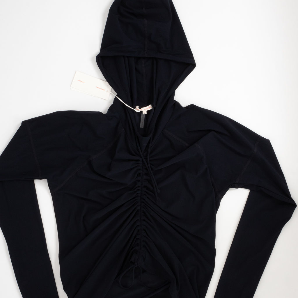 Filippa K Soft Sport Ruched Hooded Top
