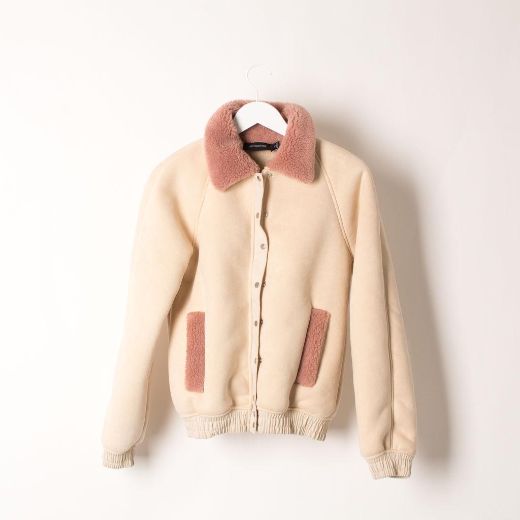 MINKPINK Romanticism Sherpa Bomber Jacket
