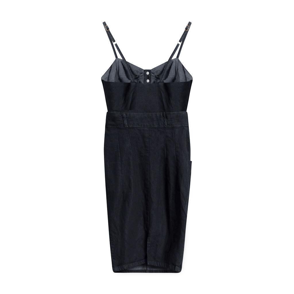 Vintage Judi Rosen Denim Open-Front Dress