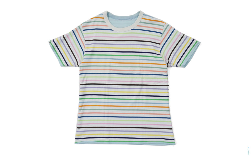 Rainbow Border Busy Works Reversible Tee