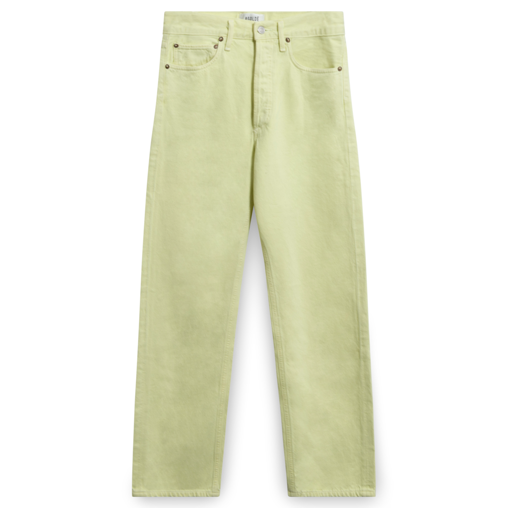 AGOLDE 90's Mid-Rise Loose Fit Jeans in Limoncello