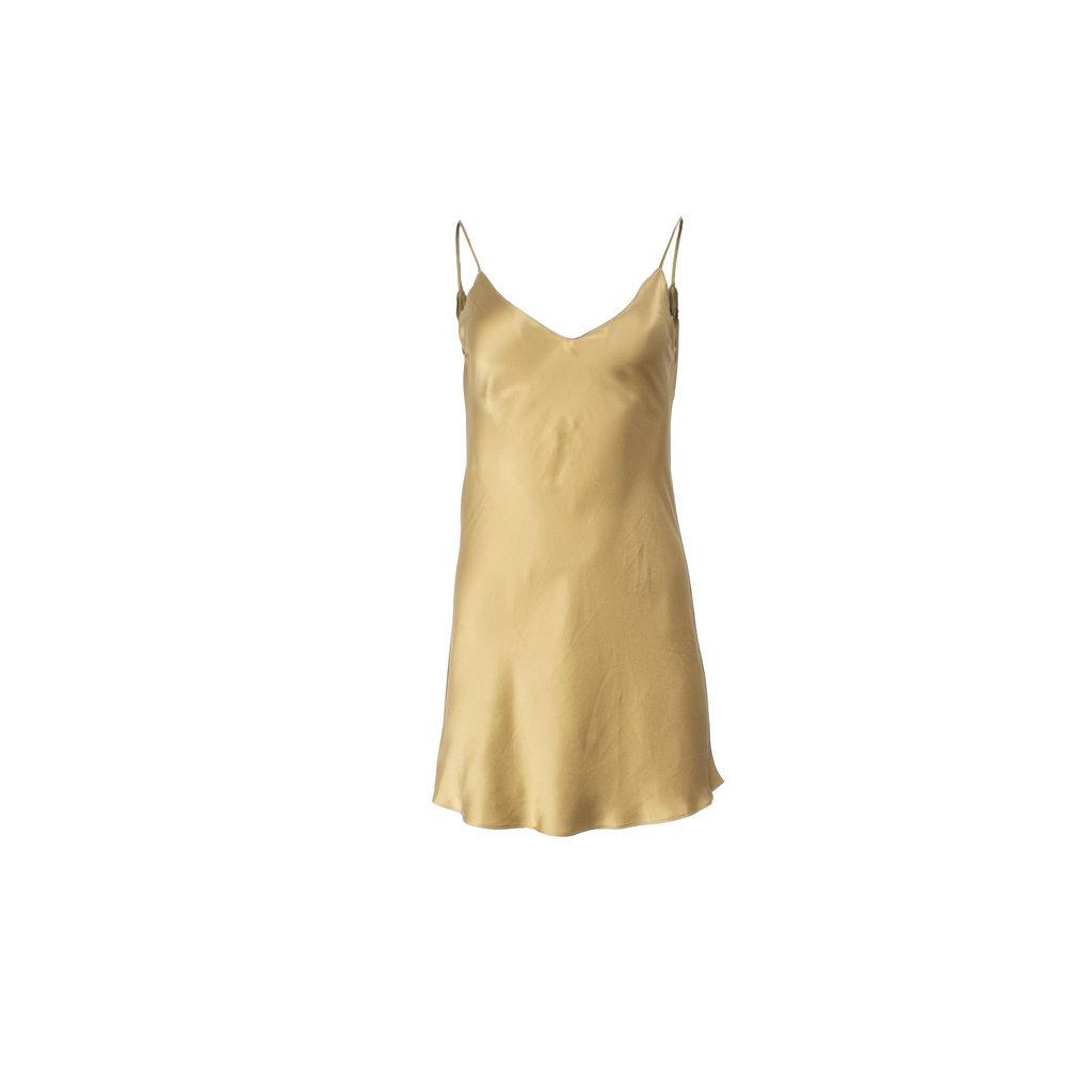 Dannijo Khaki Mini Slip Dress