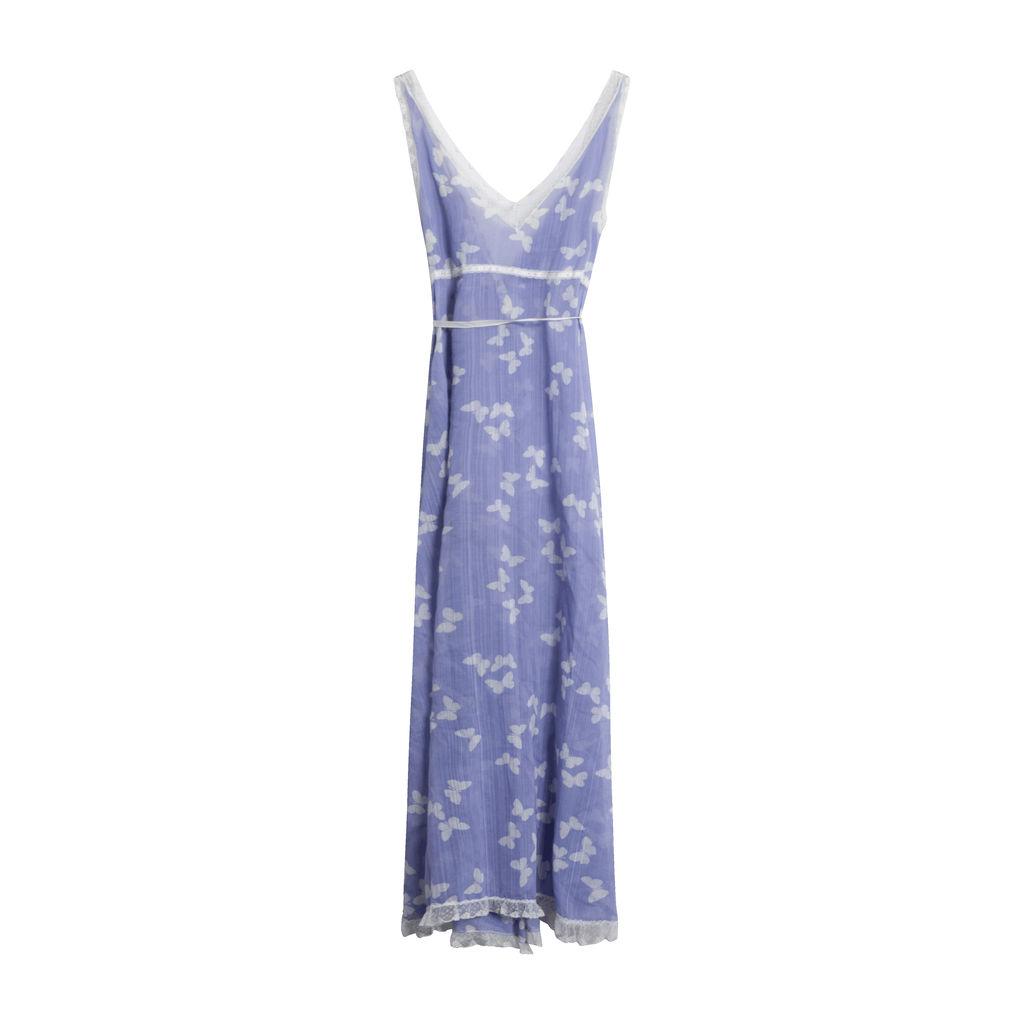 Vintage Butterfly Wrap Dress