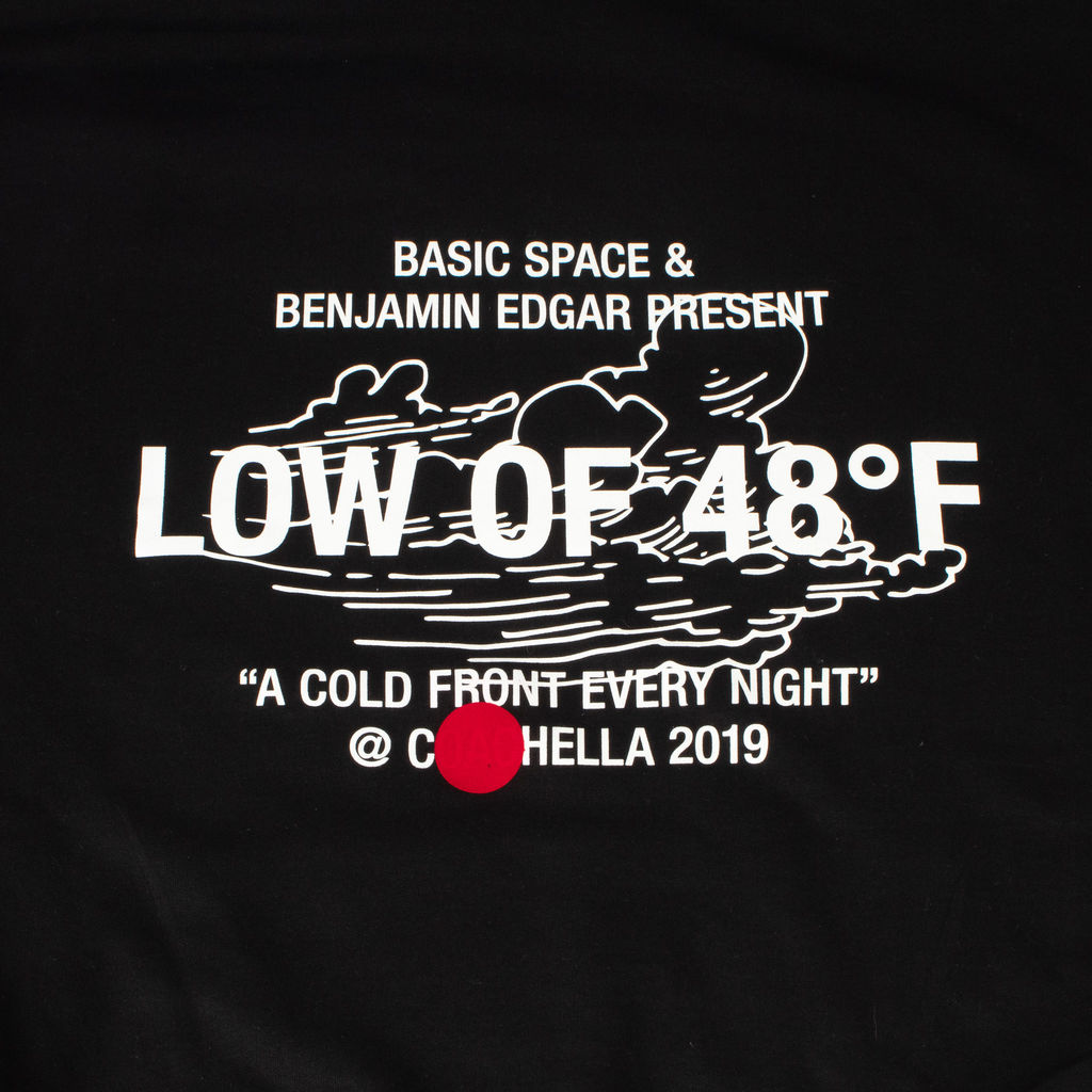 "Basic Space x Benjamin Edgar ""A COLD FRONT EVERY NIGHT"" Hoodie"