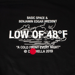 """Basic Space x Benjamin Edgar """"A COLD FRONT EVERY NIGHT"""" Hoodie curated by Benjamin Edgar"""