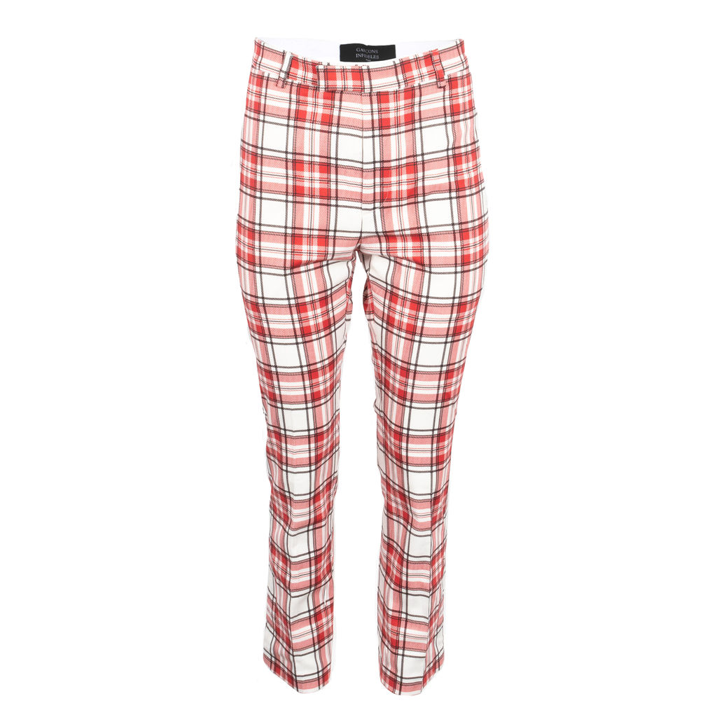 Garcons Infideles Checked Slim Chinos