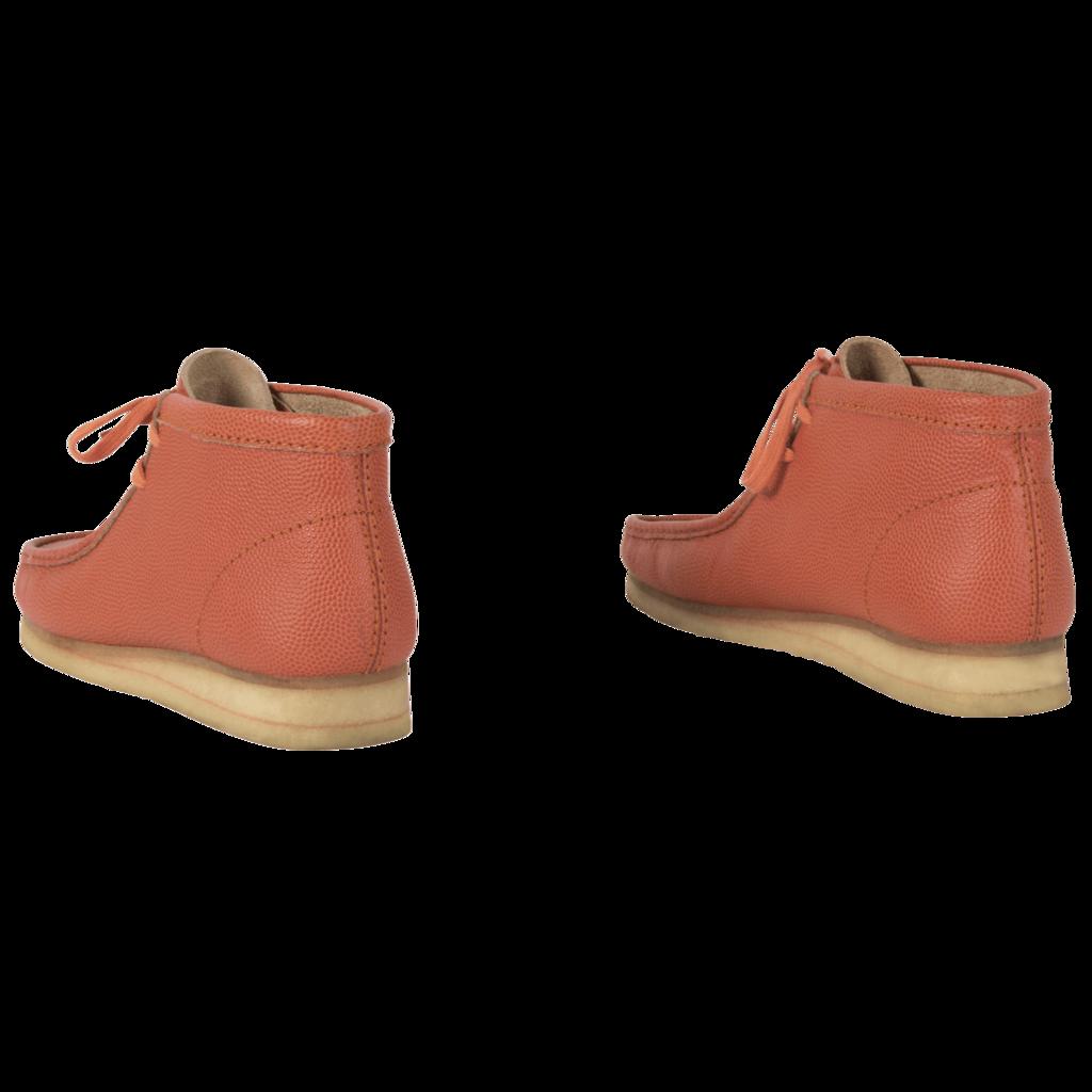 Clarks Originals Orange Leather Wallabee Boot
