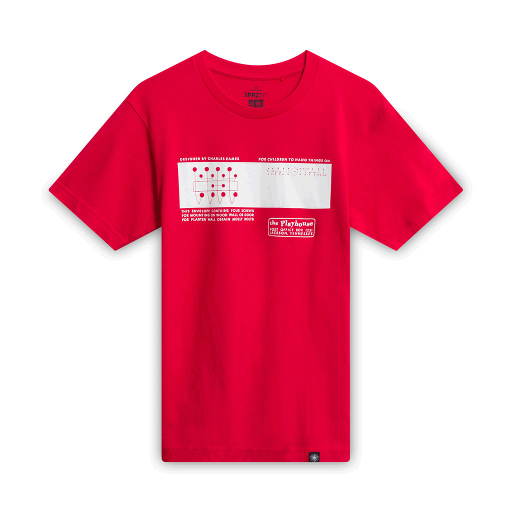 Charles Eames Hang-it-all T-shirt - Red