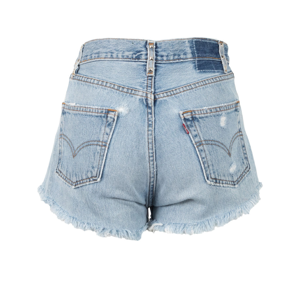 American Vintage Studded Denim Shorts