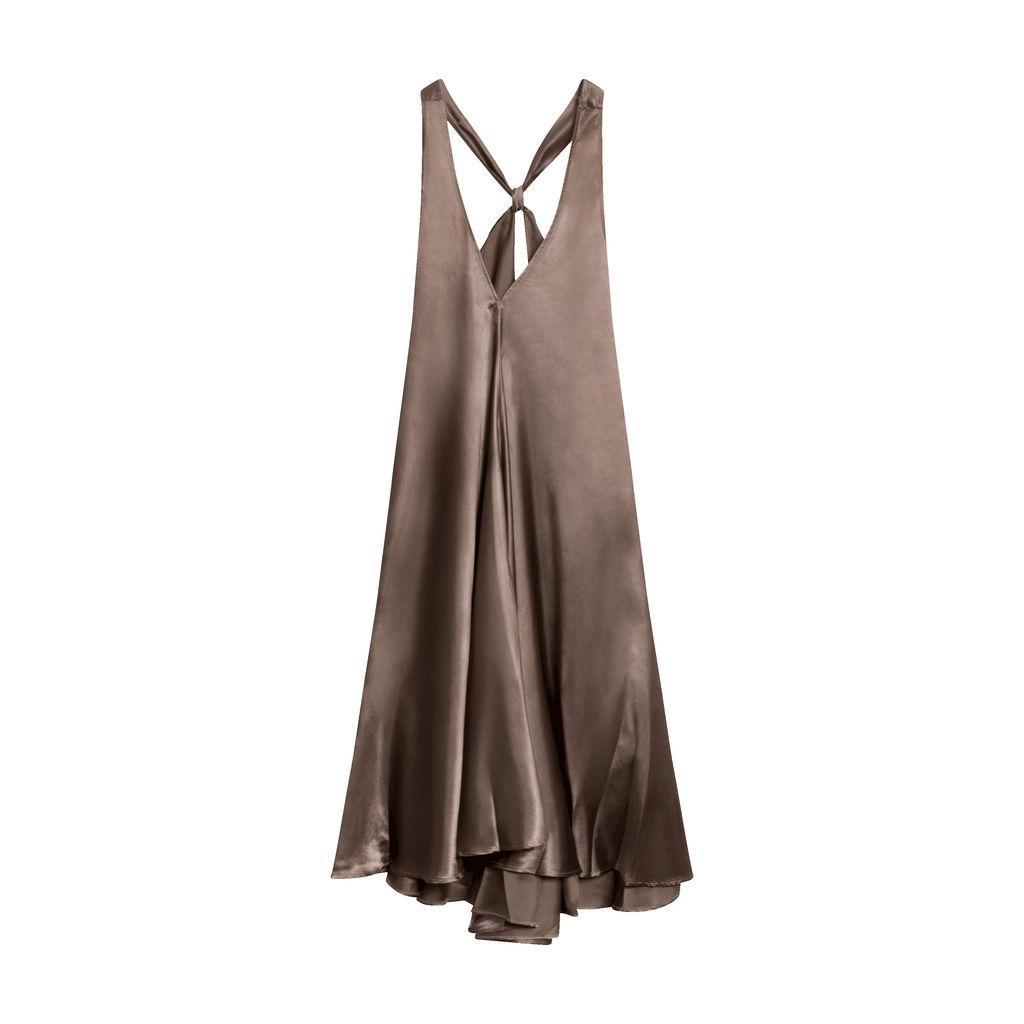 Bleu De Vous Grace Bias Cut Midi Dress