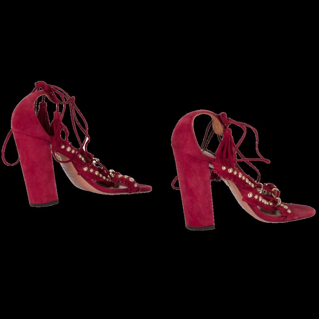 Aquazzura Red Lace-Up Heel