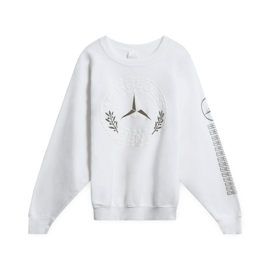 80's Mercedes-Benz Emblem Sweatshirt (White)