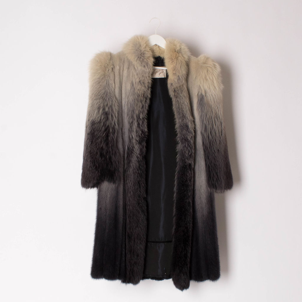 Vintage 70s Fox and Mink Ombré Coat.
