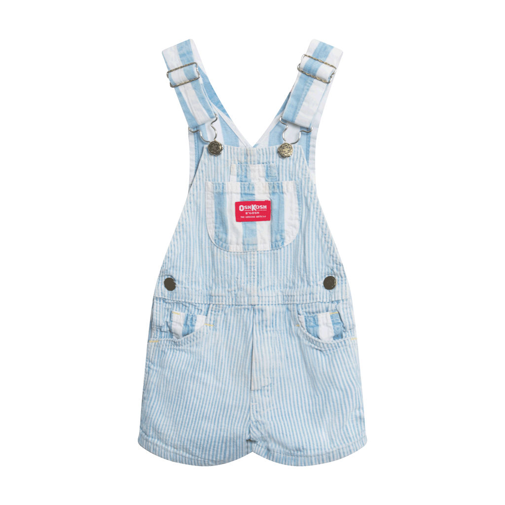 Vintage OshKosh Overalls- Light Blue Pinstripe