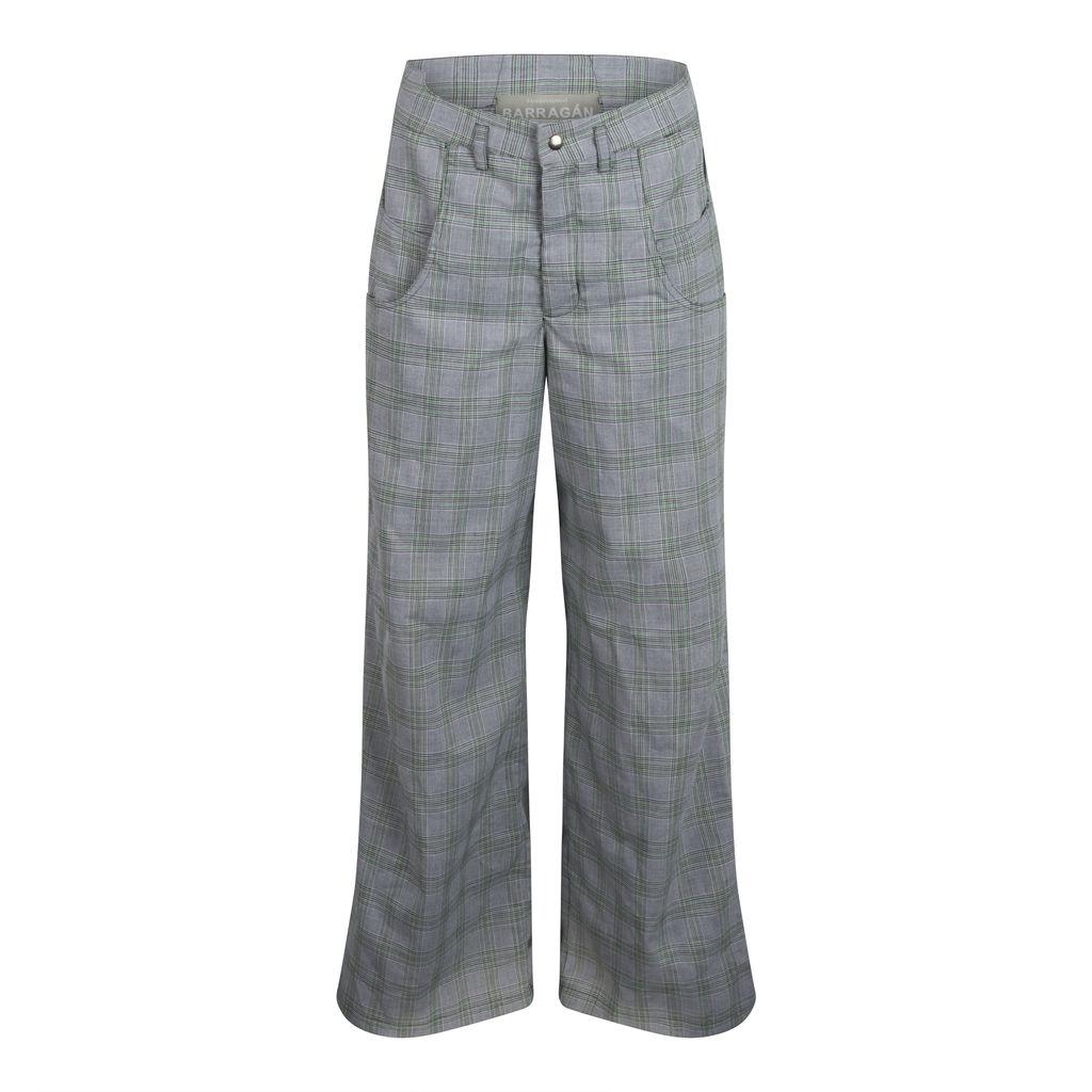 Barragán Women's Double Pocket Pants - Green Tartan