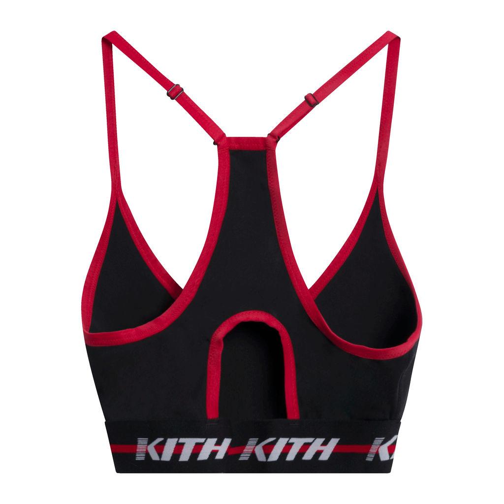 Kith Linda Sports Bra in Black/Red