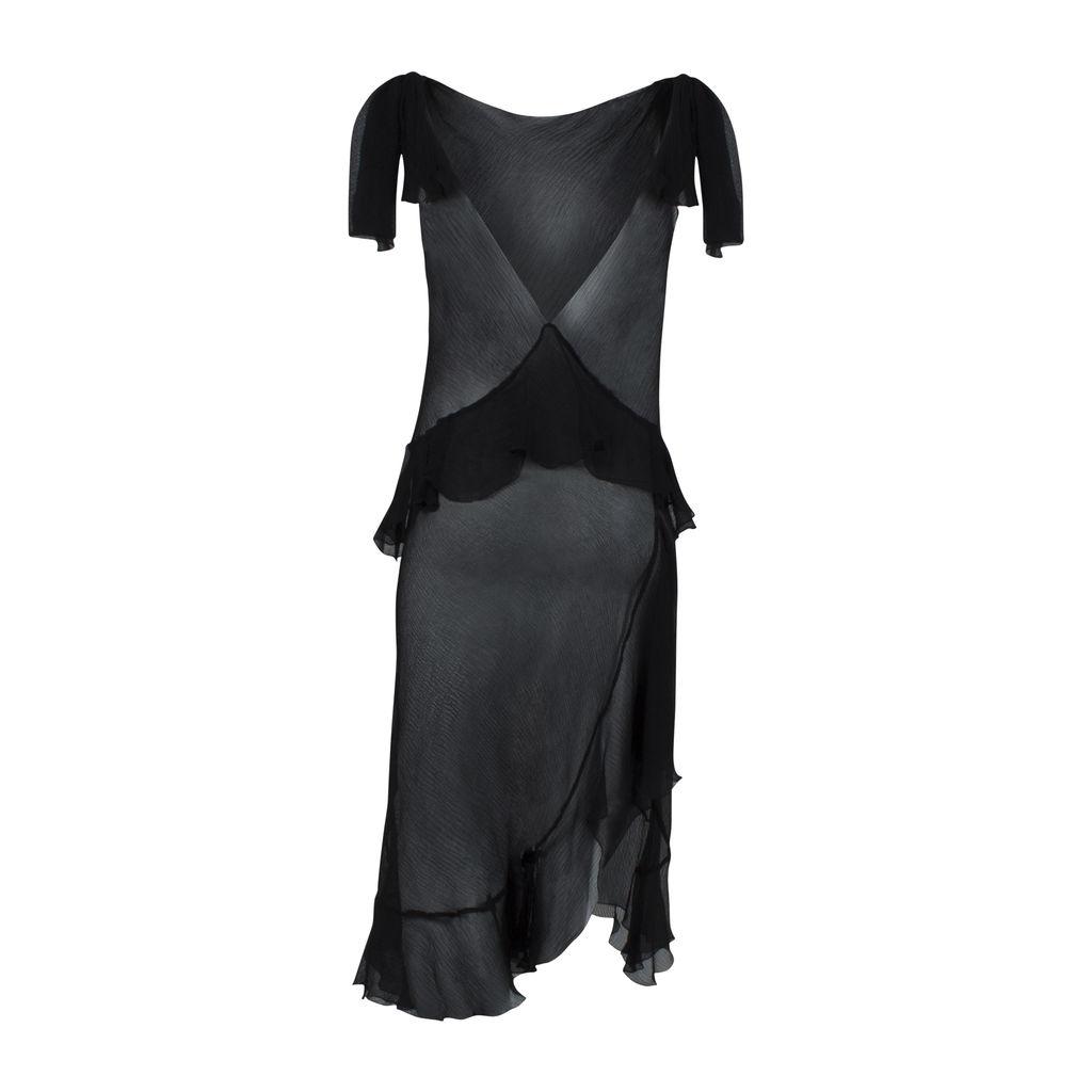 Sheer Ruffled Slip Dress