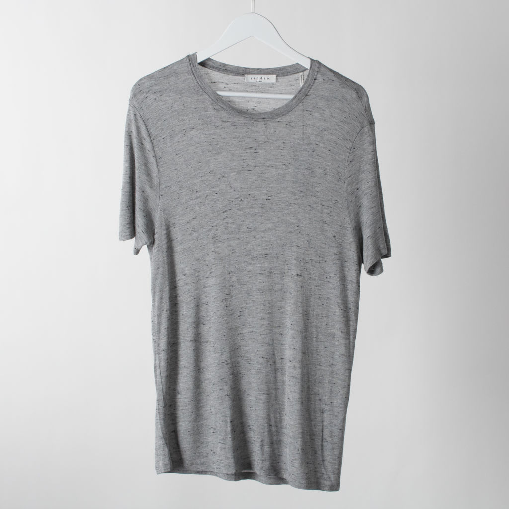Sandro Viscose Melange Tshirt curated by Krystle Rodriguez