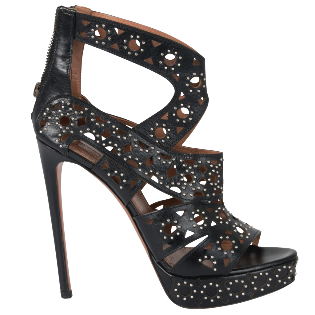 Alaïa Paris Studded Leather Heel