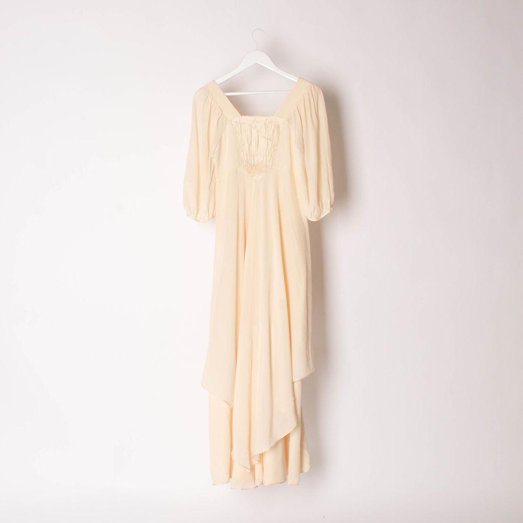 Vintage Anna Belinda 70s Cream Floaty Dress