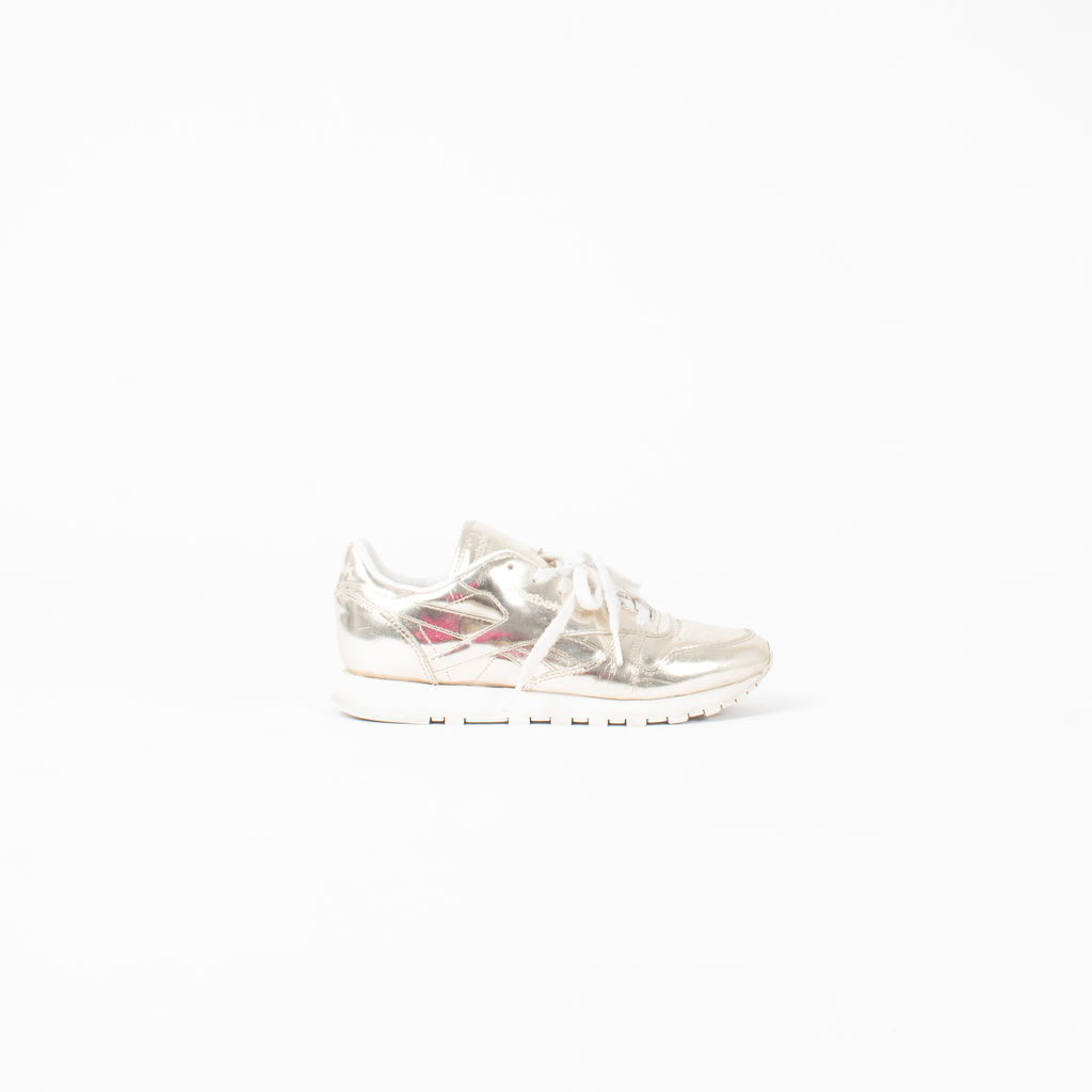 Reebok X Sandro Classic Leather Metallic Sneakers