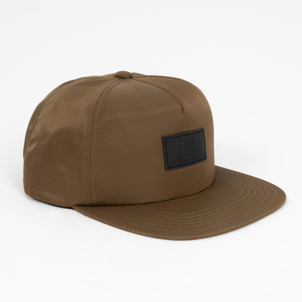 Acne Studios Covia Face Patch Snapback in Olive