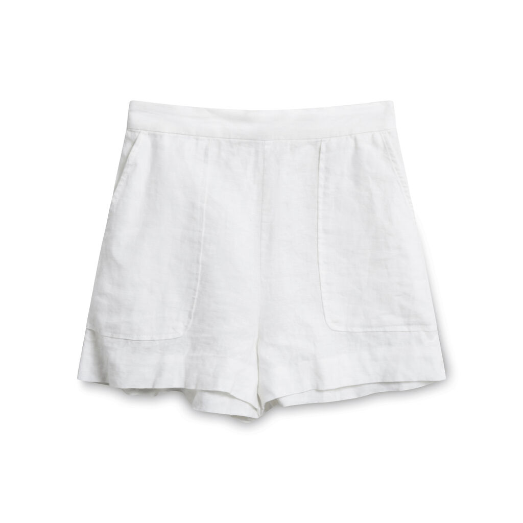 Wilfred High-Rise Linen Shorts - White