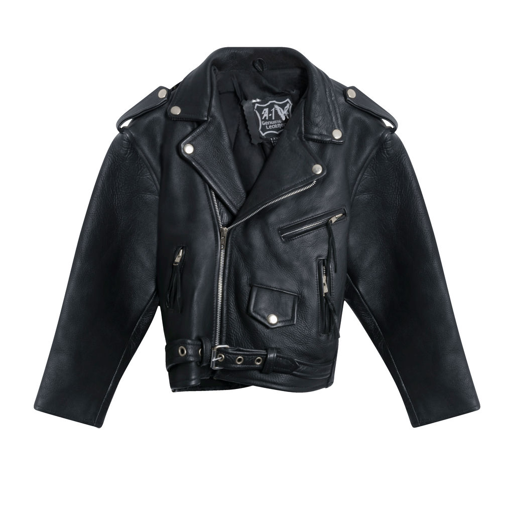 A-1 Genuine Leather Moto Jacket (Kids)