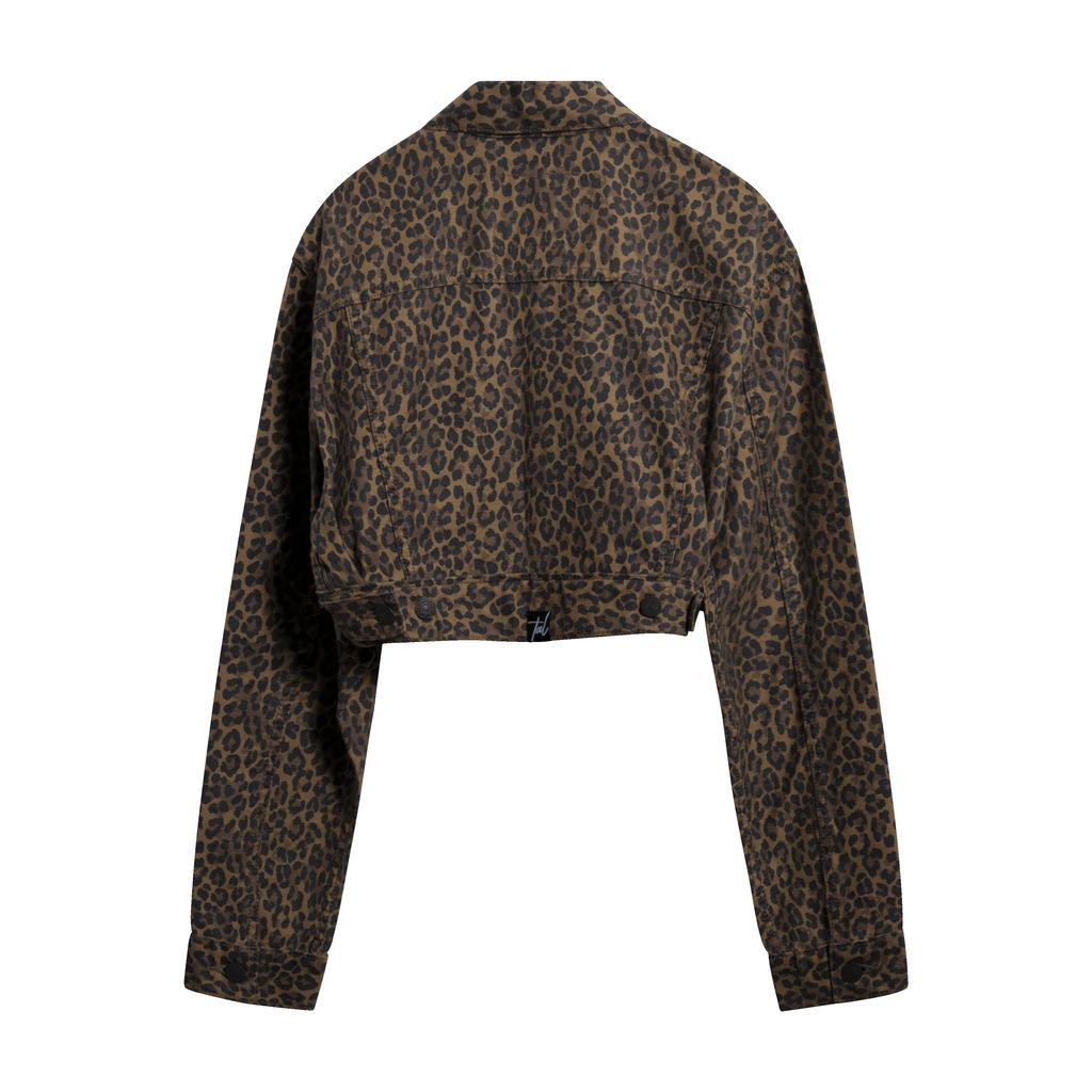 Levi's Premium Cropped Asymmetric Leopard Jacket