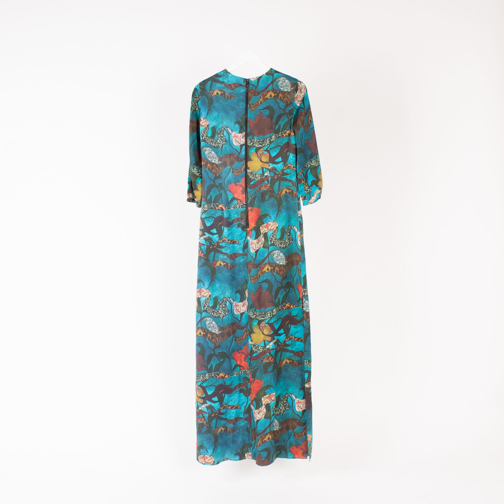 Alice + Olivia Christi Printed Silk Maxi Dress