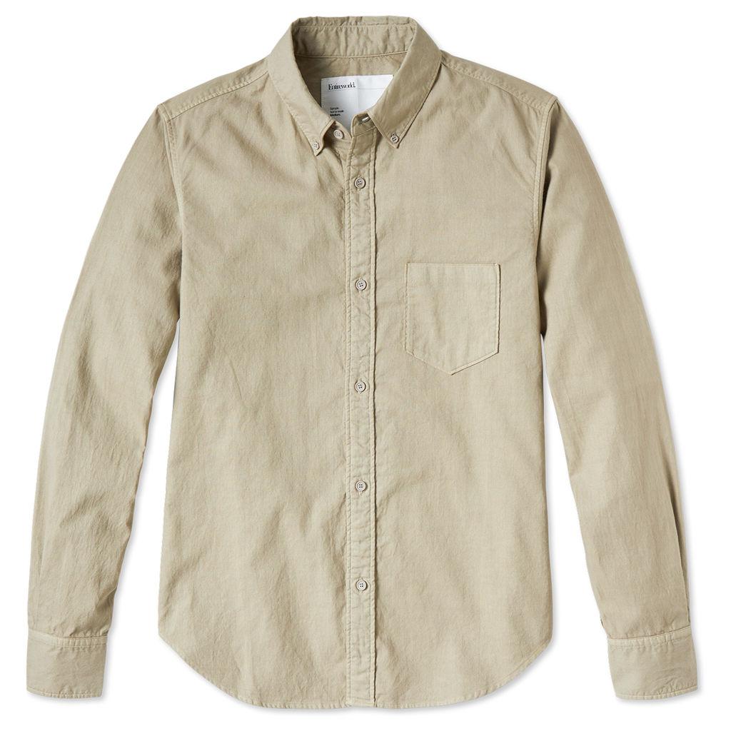 Entireworld Organic Cotton Oxford Shirt - Taupe