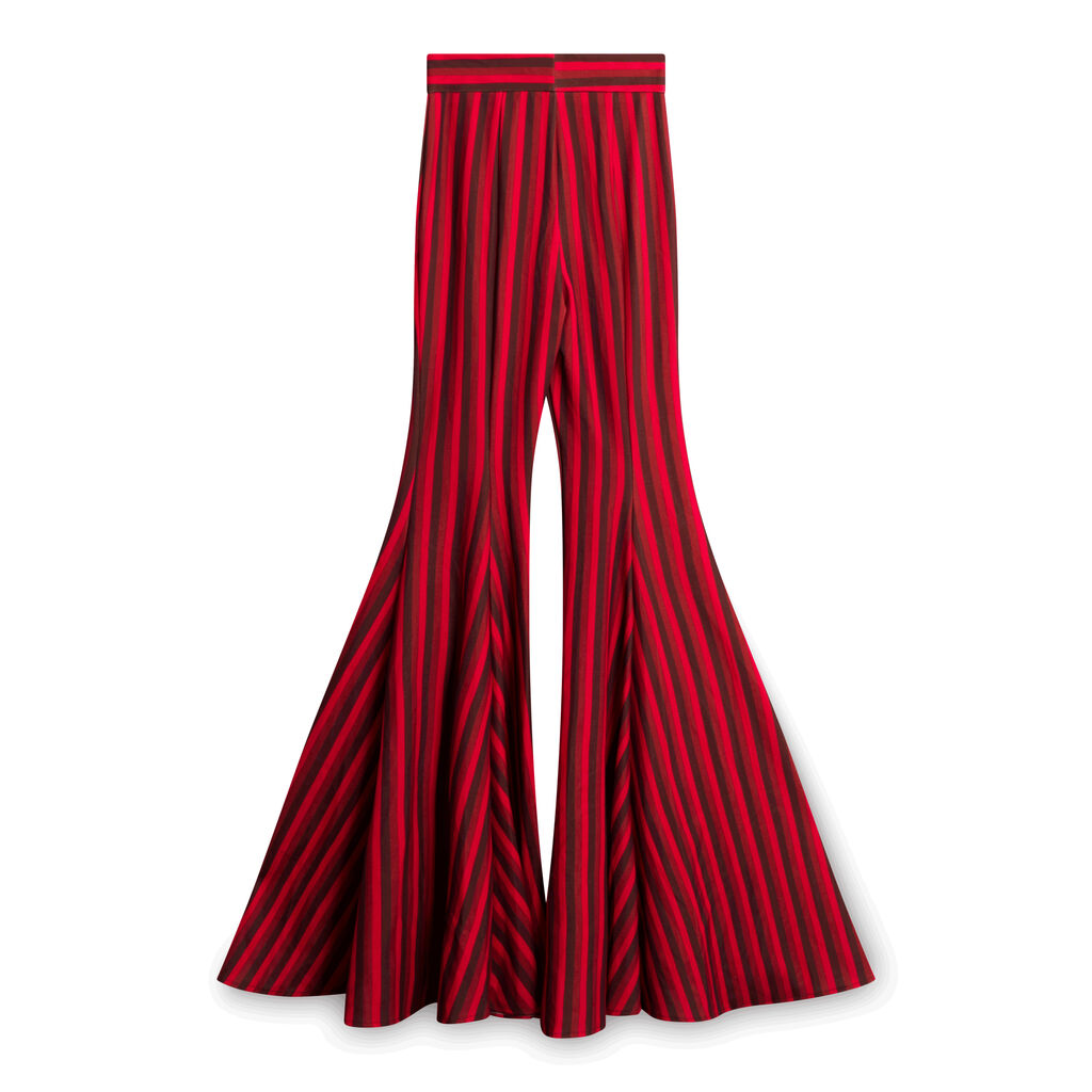 Red Striped Pants