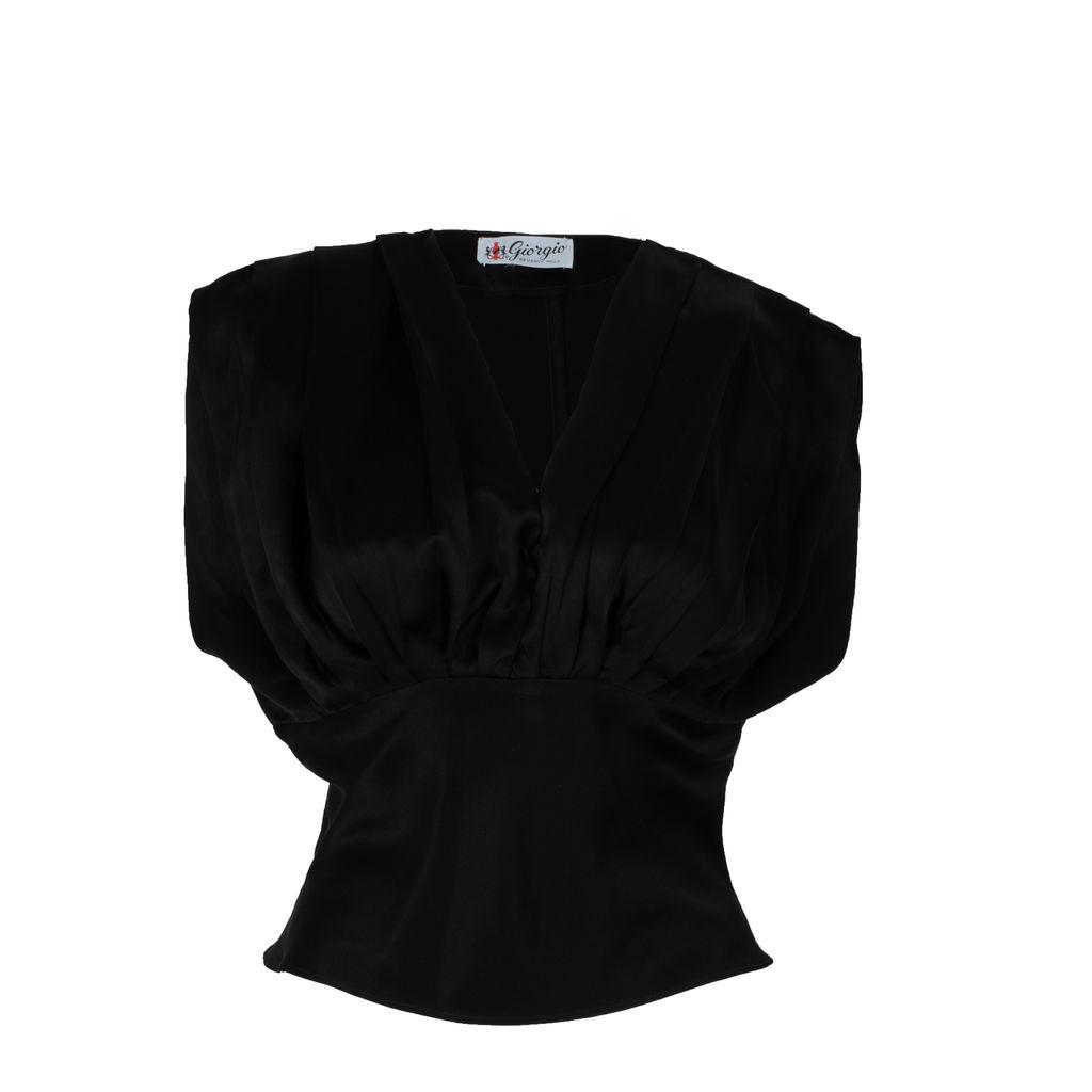 'Giorgio Beverly Hills' Silk Sleeveless Blouse