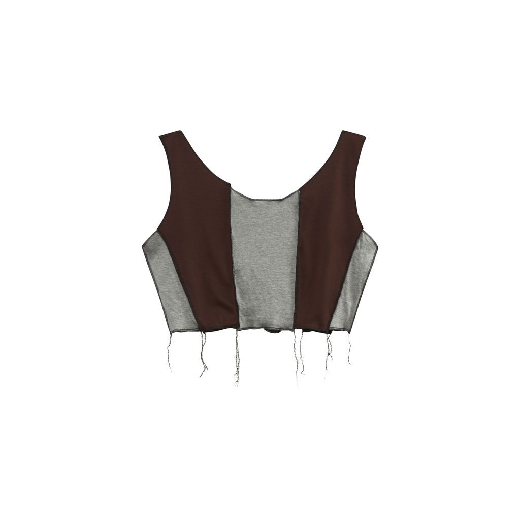 JJVintage Reworked Nike Tank in Maroon/Grey