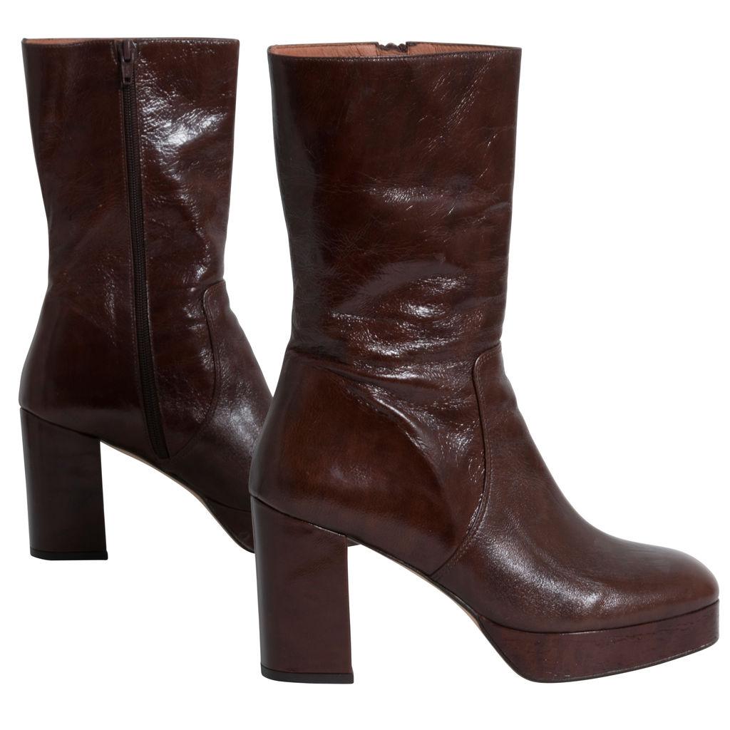 Jonak Girls Jodie Platform Leather Boots