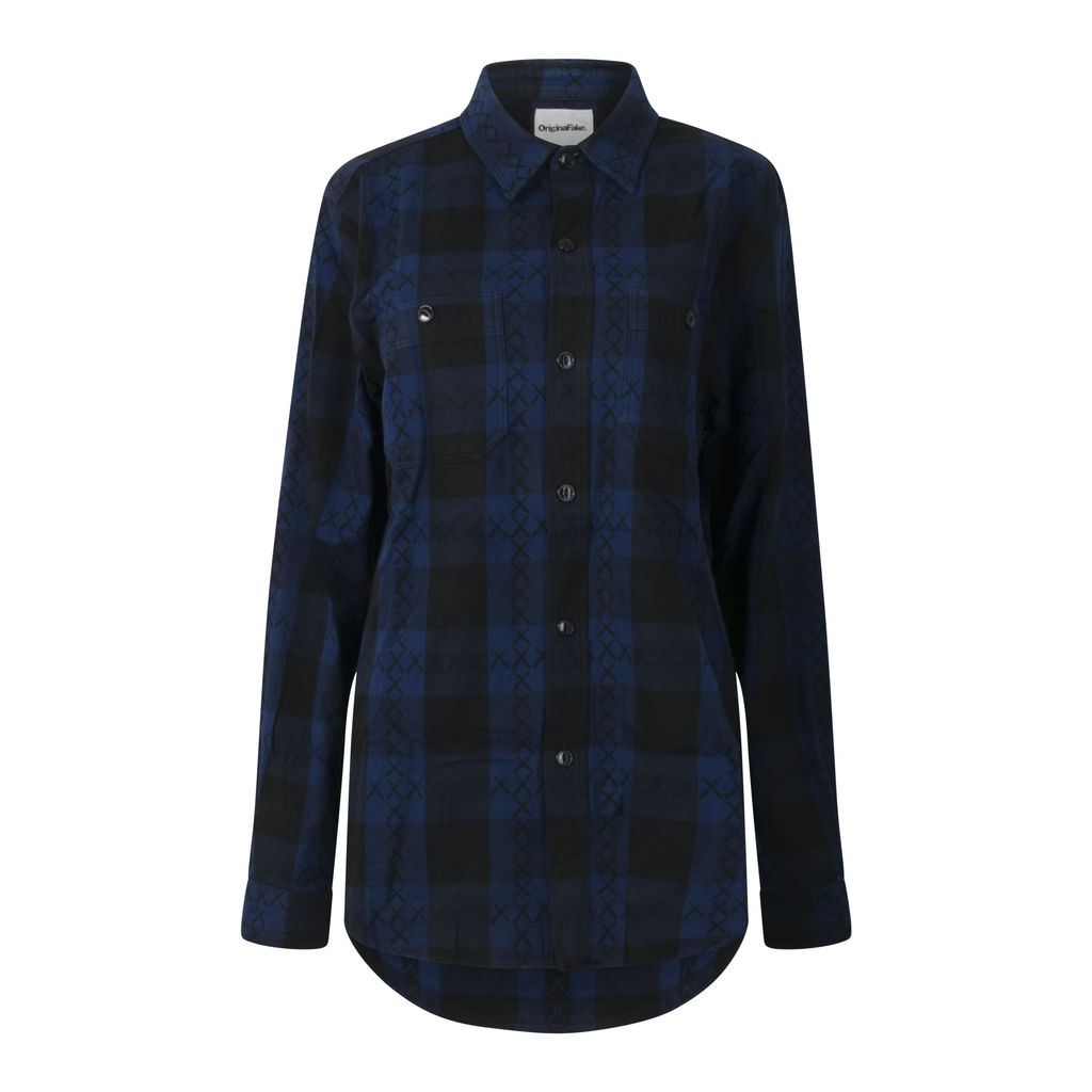 Original Fake Block Check Flannel Shirt