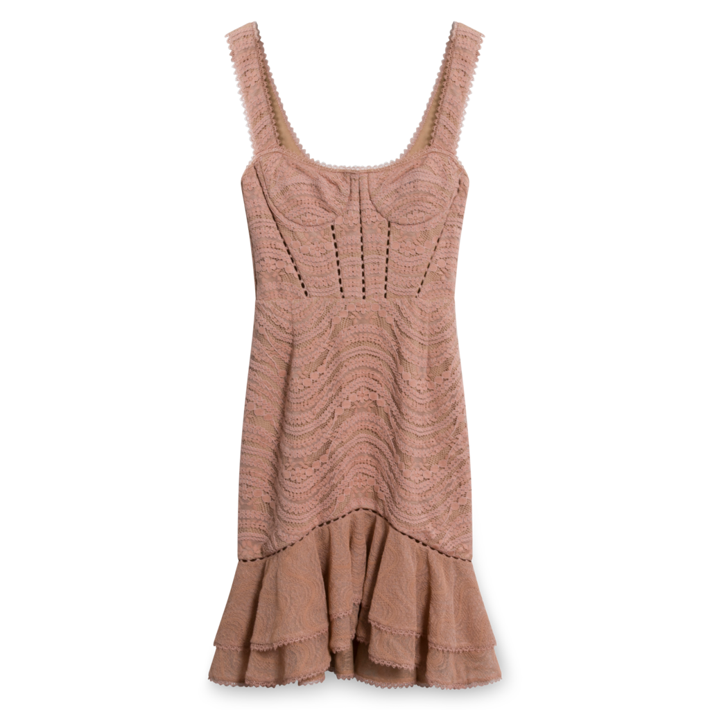 Jonathan Simkhai Bustier Mini Dress in Pink