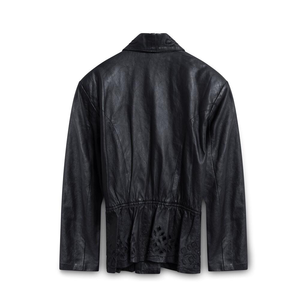 Vintage Leather Jacket - Black