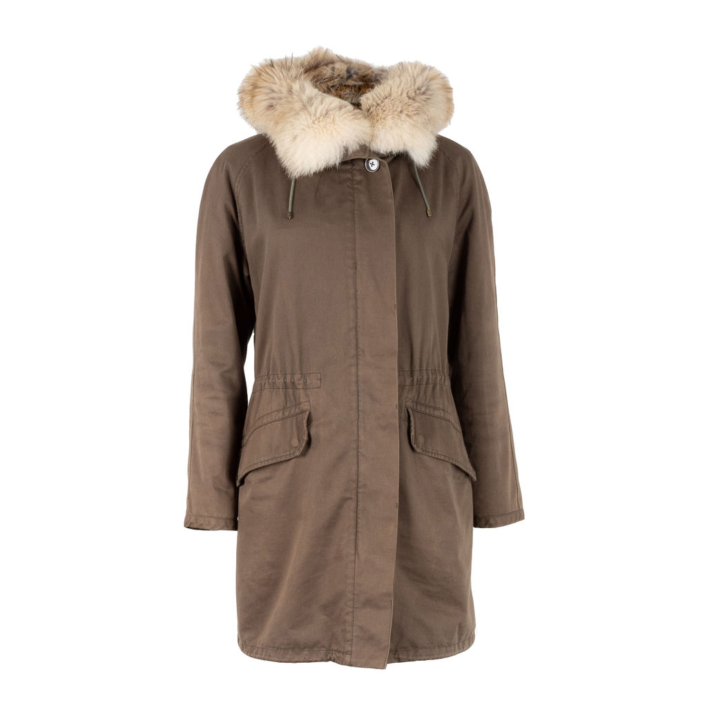Yves Salomon Army Fur Lined Parka