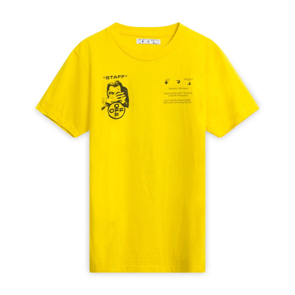 "OFF-WHITE Yellow ""Staff"" ""Meteor Shower"" T-shirt"