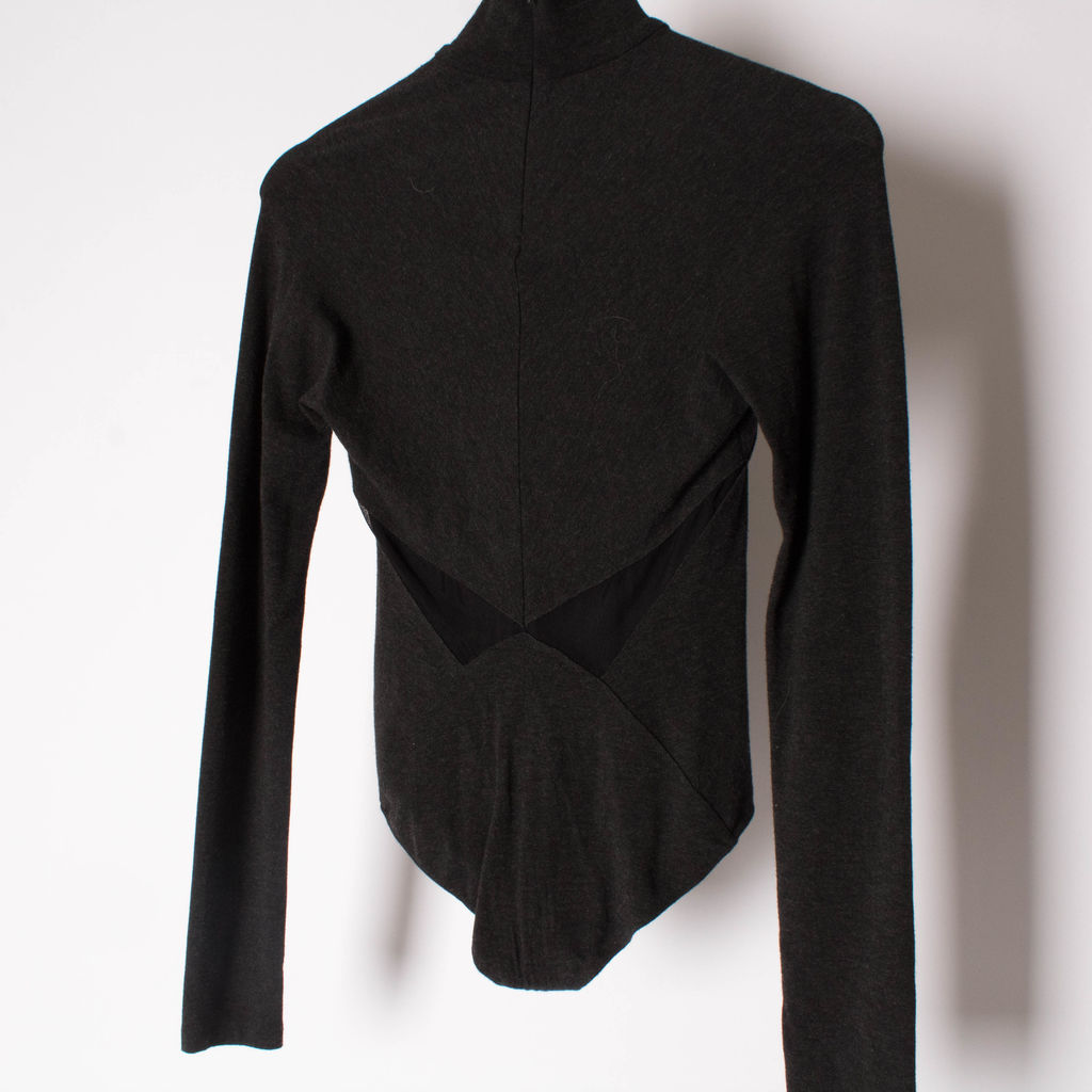 Donna Karan Long-Sleeve Turtleneck Bodysuit