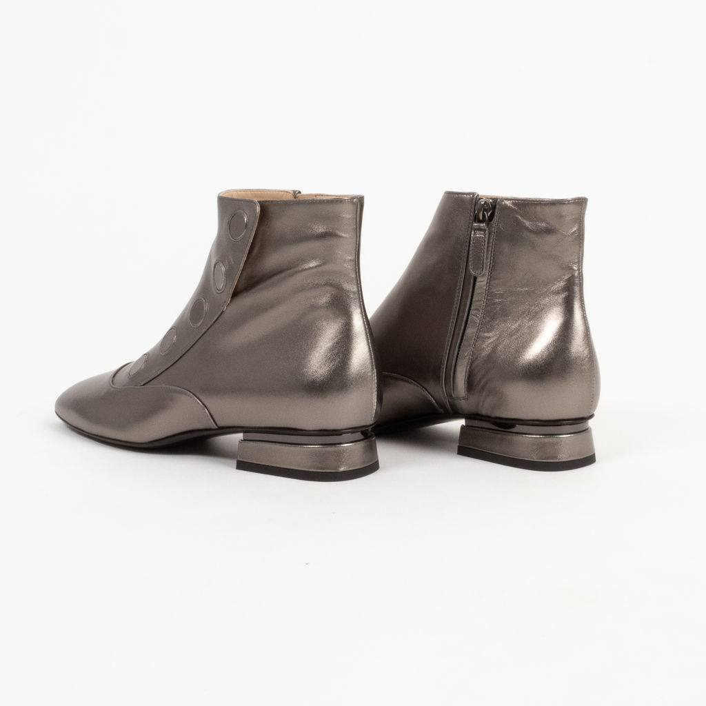 Tod's Tronch Metallic Leather Ankle Boots