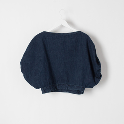 Rachel Comey Denim Bubble Top curated by Olivia Lopez