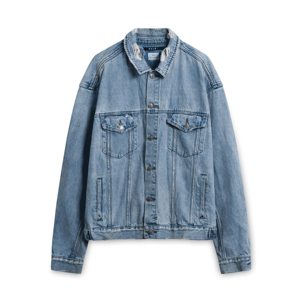 KSUBI Distressed Jean Jacket