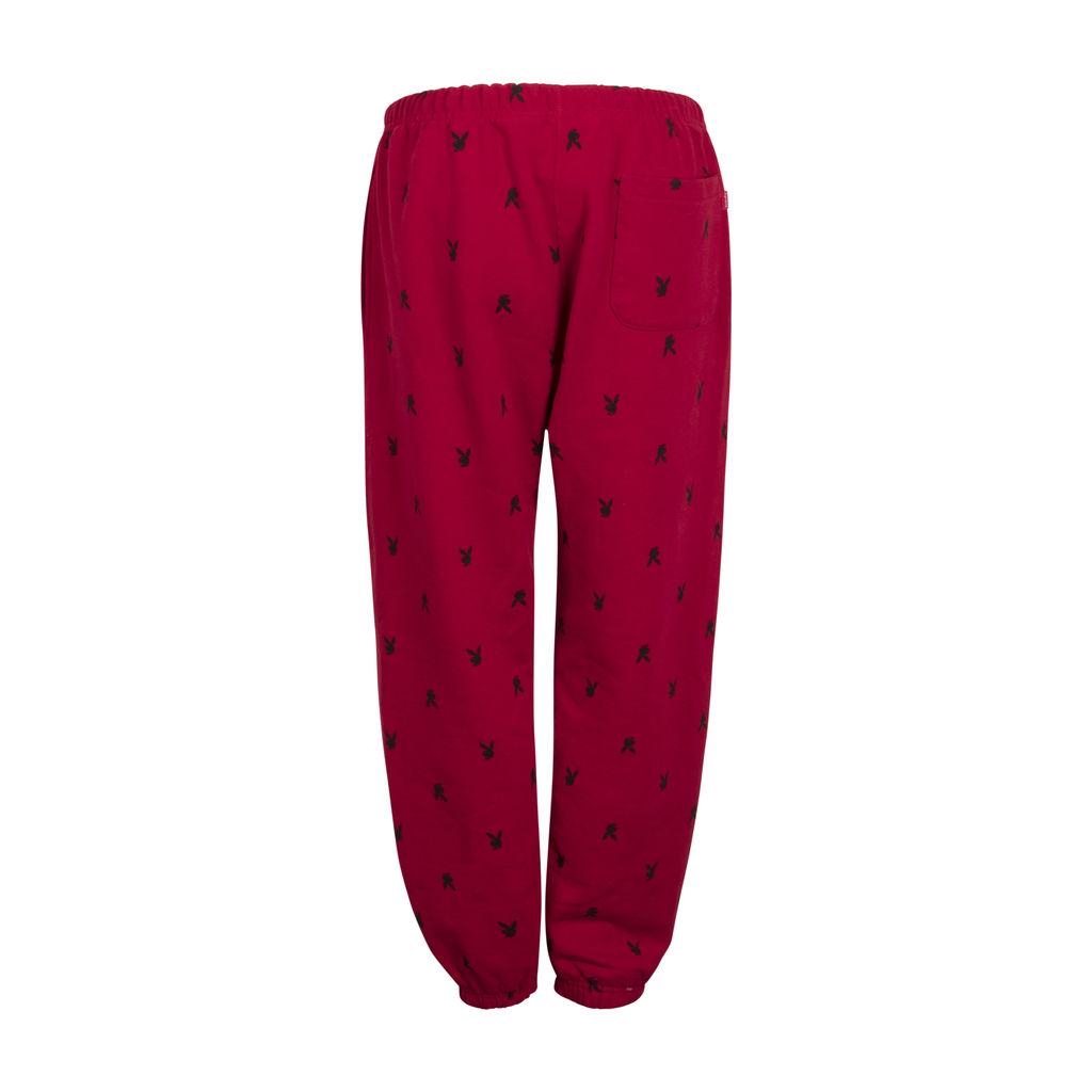 Supreme X Playboy Sweatpants- Red