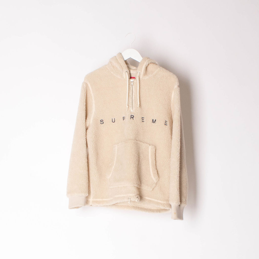 Supreme Shearling Pullover Hoodie