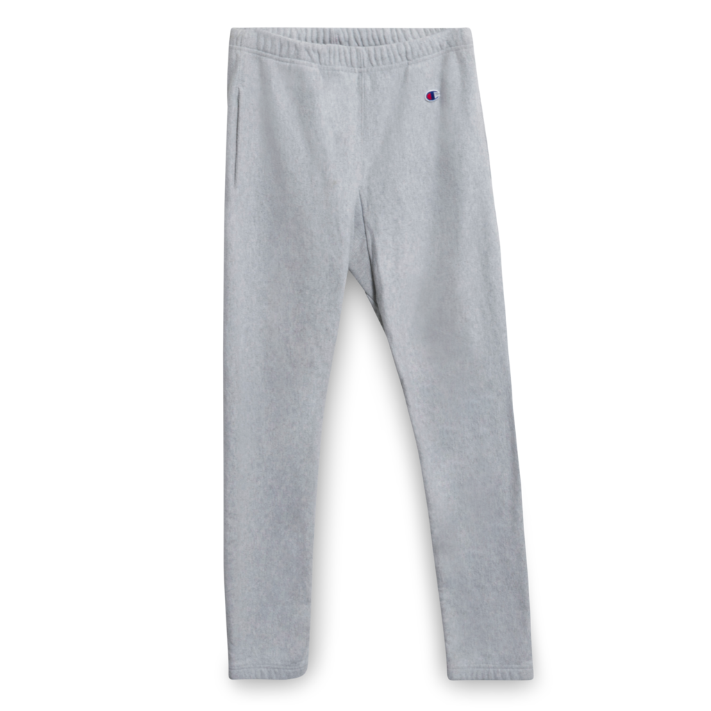 Vintage Women's Champion Reverse Weave Warm Up Sweatpant in Heather Grey
