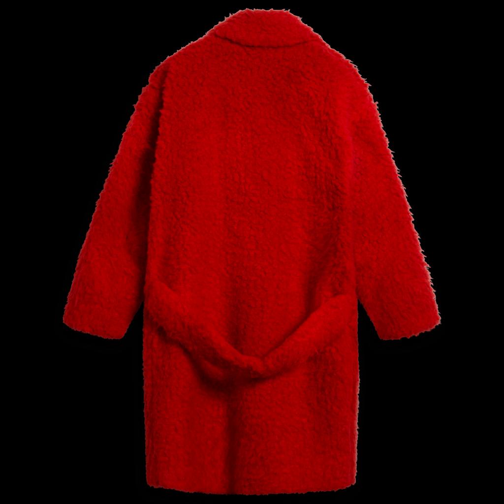 Coach Cherry Red Shearling Coat