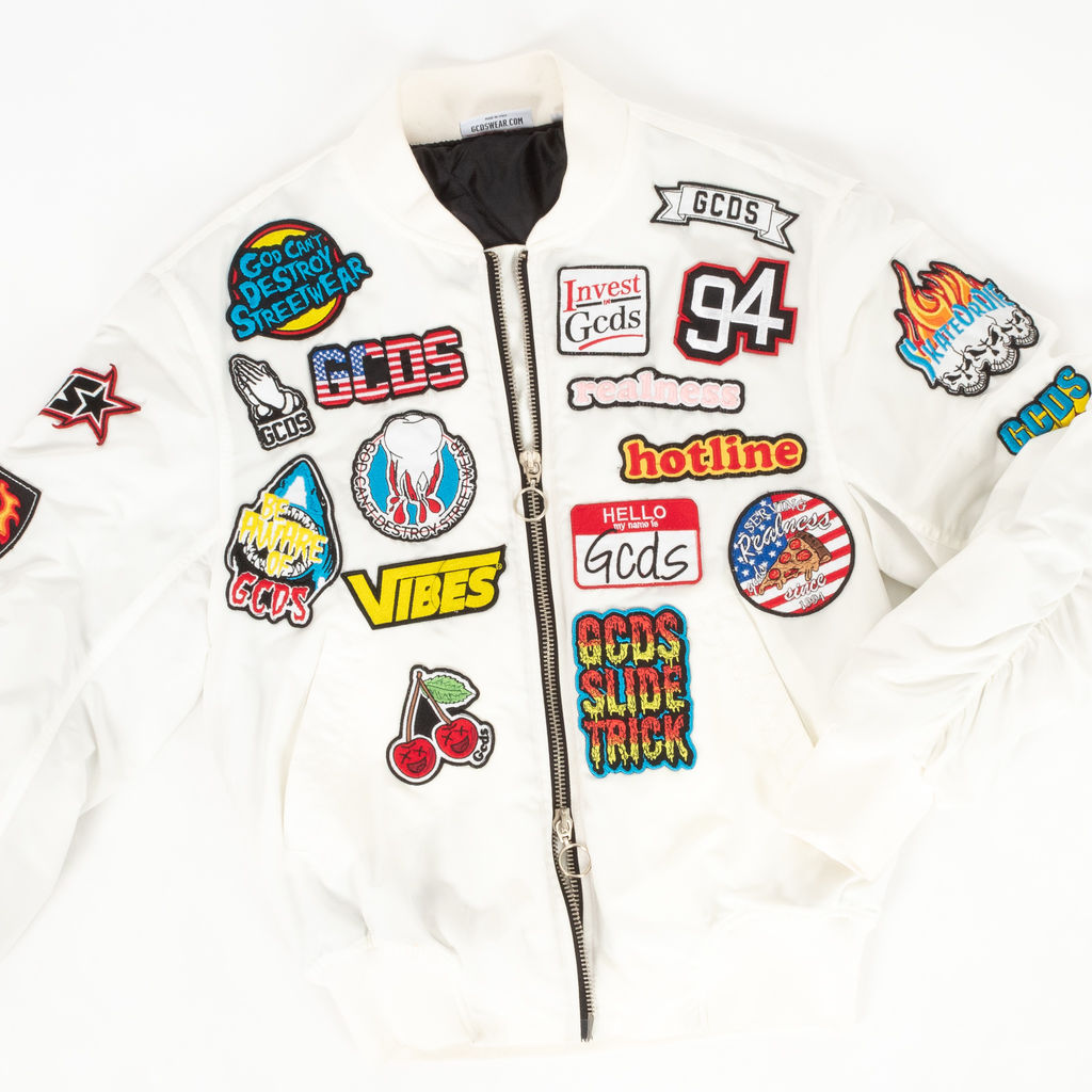 GCDS White Patches Bomber Jacket